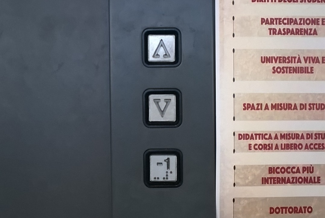 UniBicocca: Salgo, scendo… o vado al piano -1?