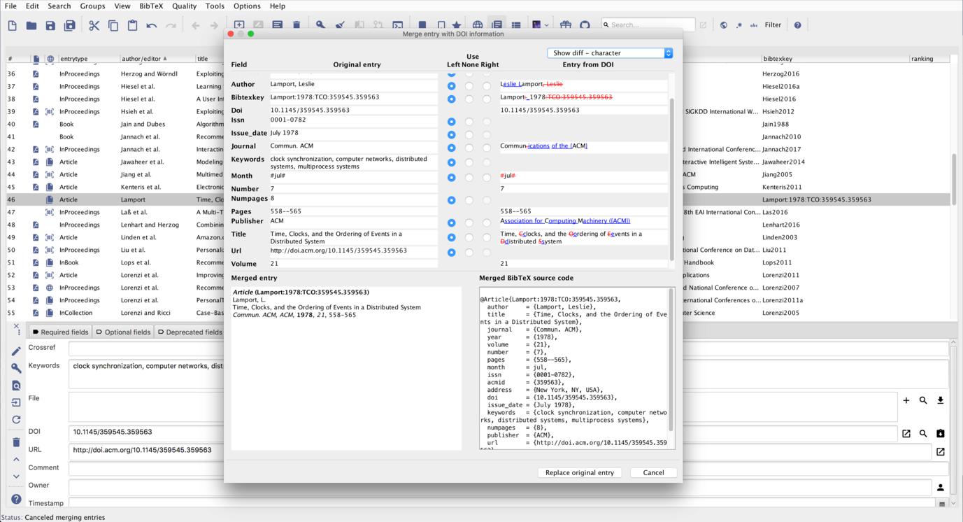 JabRef LaTeX BibTeX BibTeX GUI Bibliografia OSX WINDOWS