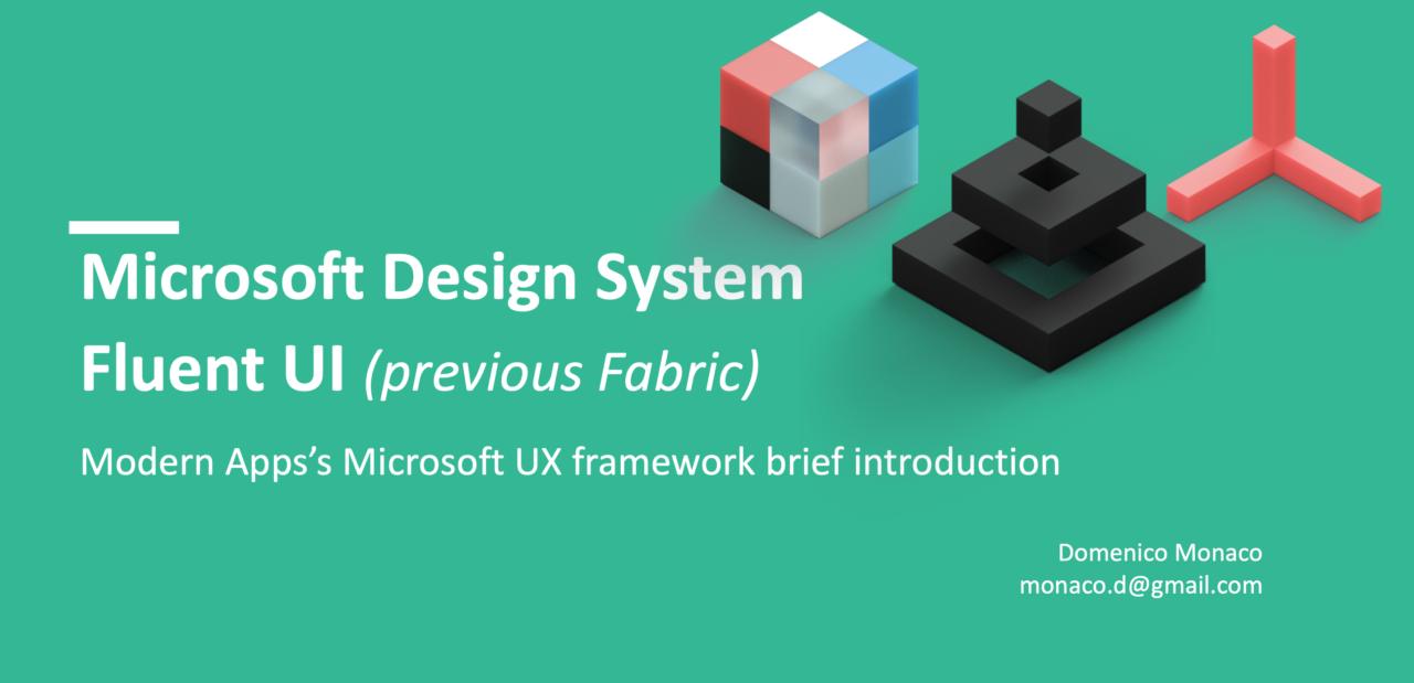 Breve Introduzione Fluent UI Microsoft Design System